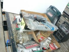 HEATER, COLEMAN RADIO FLASHLIGHT, SOCKETS, NEW CLAMPS, ETC.