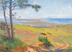 Elisabeth Büchsel (1867 – Stralsund – 1957)Inselblick Hiddensee.Öl auf Leinwa