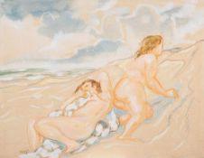 Max Kaus (1891 – Berlin – 1977)In den Dünen II.Pastell, Aquarell, Gouache. 19