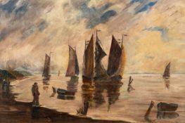 Hans Hartig (1873 Karvin – 1936 Berlin)Abend am Haff.Öl auf Leinwand. 1916. 360