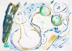 Hans Kinder (1900 – Dresden – 1986)Stillleben mit Kerze.Mischtechnik auf Papier