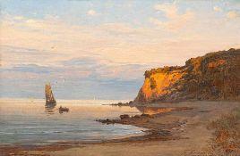 Fritz Fechner (1838 – Berlin – 1928)Abend an der Ostsee (Rügen).Öl auf Leinwa