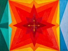 Peter Keler (1898 Preetz/Holstein – 1982 Weimar)Farbspiel der Windrose.Öl auf Ha