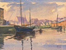 Hans-Otto Gehrcke (1896 Langelsheim/Harz – 1988 Ferch)Querkanal in Stralsund.Aqua