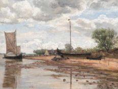 Friedrich Behrendt (1863 Memel – 1946 Fürstenfeldbruck)Haffstrand bei Nidden.Öl