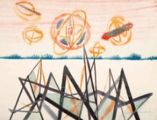 Wolfgang Frankenstein (1918 – Berlin – 2010)Komposition II.Aquarell. 1948. 480