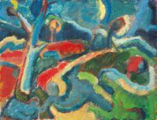 Arthur Degner (1888 Gumbinnen – 1972 Berlin)Im abendlichen Dünenwald.Öl auf Har