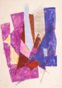 Hans Kinder (1900 – Dresden – 1986)Abstrakte Komposition.Tempera, Pastell auf P