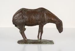 Jo Jastram (1928 Rostock – 2011 Ribnitz–Damgarten)Darßer Pferd im Wind.Bronze