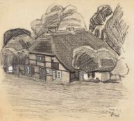 Lyonel Feininger (1871 – New York – 1956)Farmhaus auf Rügen. (Farmhouse on Rügen)