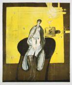 "Giselbert Hoke(1927-2015)""Stein 48""1975Lithographie auf Papier; Ed. 18/34; signiert"