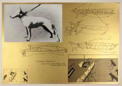 """Bruno Gironcoli(1936-2010)""""Hundederby - Objektentwurf""""1972Siebdruck; Ed. XII/XVI; s"""