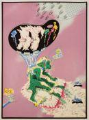 """Christian Ludwig Attersee(geb. 1940)""""Schwule Palette""""1972Siebdruck; Ed. XII/XVI; si"""