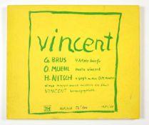 """Diverse Künstler""""Mappe Vincent""""1984/85Vollständige Mappe """"Vincent"""" bestehend aus"""