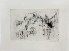 """Kurt Moldovan(1918-1977)""""Wien-Heldenplatz""""1971Radierung und Aquatinta; Ed. 18/80; a"""
