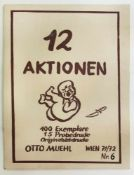 """Otto Muehl(1925-2013)Mappe """"12 Aktionen""""1971/72Vollständige Mappe """"12 Aktionen""""; S"""