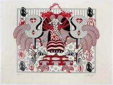 """Hans Kren(1932-2007)""""Wien - Heraldik""""1971Siebdruck in 5 Farben; Ed. 18/80; aus der"""