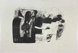 "Giselbert Hoke(1927-2015)""Liegender Akt (II)""_Lithographie auf Papier; Ed. 12/27; s"