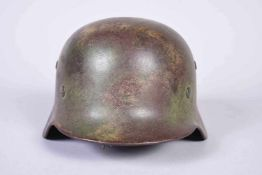 Casque Allemand Modèle 35 armée de Terre (HEER). Fabricant ET64. N° de série 4800. Peinture vert