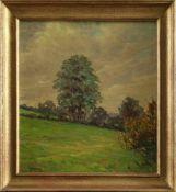 """Willi Voss (1902 - 1973) - Öl auf Hartfaserplatte, """"Letzte Abendsonne"""", 1948, unten links in braun"""