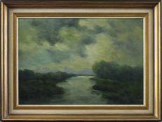 """Feodor Szerbakow (1911 - 2009) - Öl auf Hartfaserplatte, """"Im Worpsweder Moor"""", unten rechts"""
