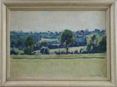 "Hans Hausfeldt (1902 - 1977) - Öl auf Malkarton, ""Holsteinische Landschaft"", unten rechts"