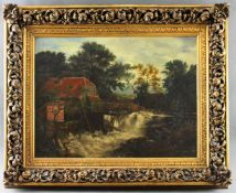 """Maler (19./20. Jhd.) - Öl auf Leinwand, """"Bei der alten Wassermühle"""", unsigniert?, originaler"""
