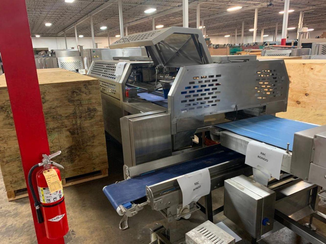 Bakery surplus equipment: Fritsch laminating line; Rondo makeup line; VFFS bagger; robots & more!