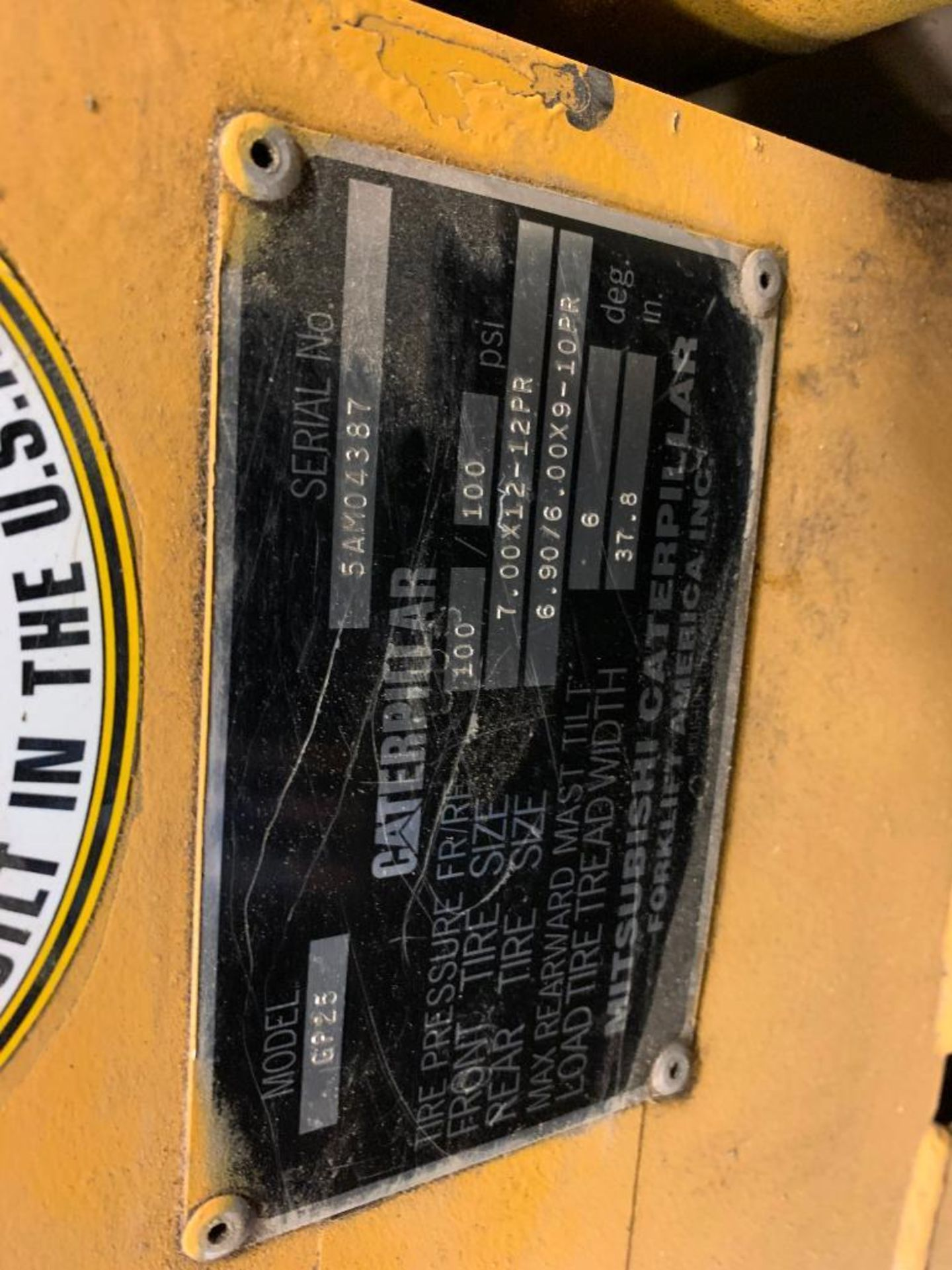 Catepillar fork truck, LP gas - Image 12 of 13