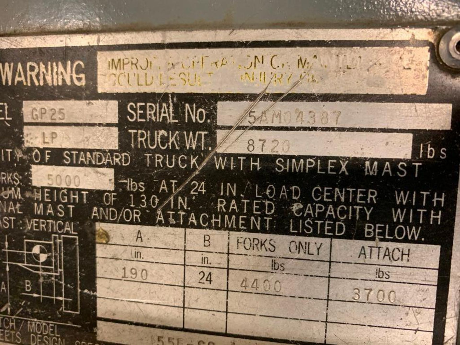 Catepillar fork truck, LP gas - Image 7 of 13