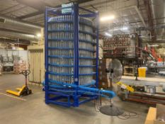 Spantech twin spiral ambient cooling spiral conveyors, one up - one down