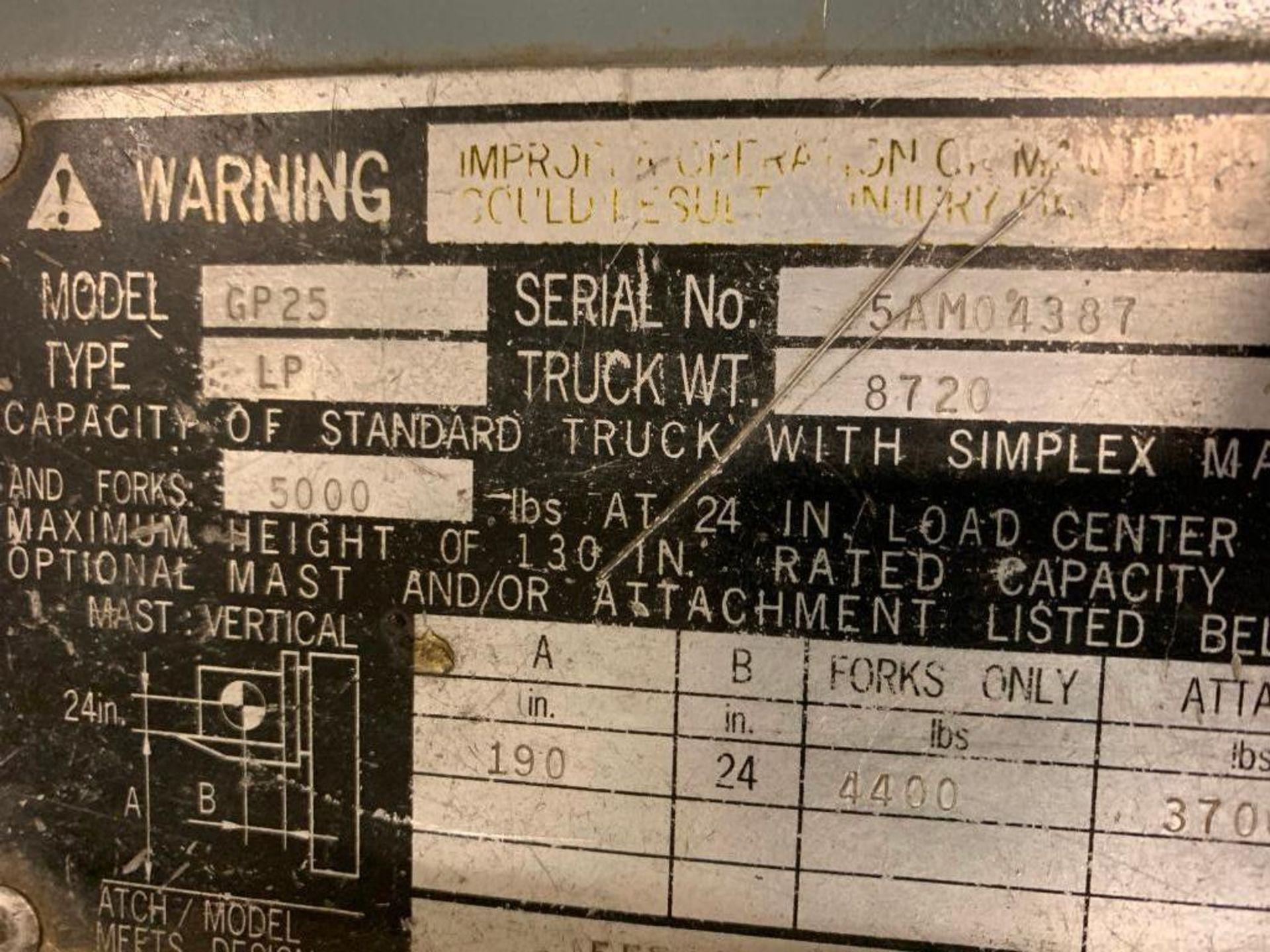 Catepillar fork truck, LP gas - Image 8 of 13