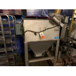 Hapman stainless steel bag dump cabinet