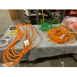 All cables on table (LOT)