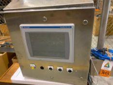 stainless steel wall control panel with PanelView Plus 1250