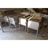 (4) Friesen Inc. power roller conveyors