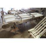 Plastic belt conveyor, 112 in. long x 26 in. wide x 37 in. tall