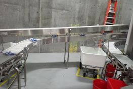 30 ft. long belt conveyor