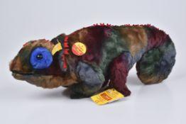 STEIFF Poppy Chamaeleon1995, KFS, Nr. 0627297, Webpelz, blau, 45 cm, Z 1, selten