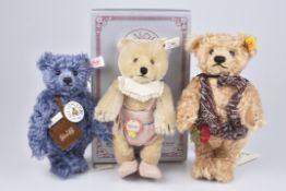 """STEIFF 3 Teddybären""""Teddy Baby Maid 1930"""", Replica 1993, limitierte Auflage mit Zertifikat 7000,"""