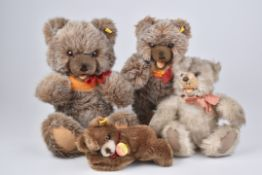 STEIFF 4 Teddybären2x Zotty, KF, Nr. 0305/ 40, KFS, Nr. 018107, Floppy, KFS, Nr. 5600/ 18, Minky