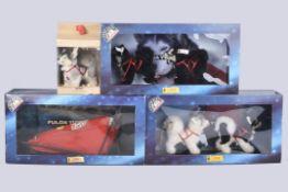 STEIFF Fulda Yukon Quest '5 Husky´s+ Schlitten'Edition 1998-2000, limitierte Auflage 3000 Stk.,