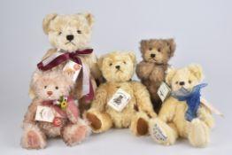 HERMANN 5 Teddybären'Emma', 'Lucy', 'M.I. Hummel', 'Musikteddy', 'U.K. Bär', limitierte Auflagen, 4x