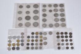 Konv. 90 Münzen, Silbermünzen, Kaiserreich, Drittes Reich, Weimarer Republik