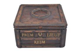Prunkschatulle, deutsch um 1900