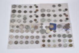 Konv. 120 Münzen, Silbermünzen, USA, Kanada, Großbritannien