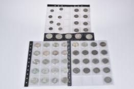 Konv. 58 Münzen/ Silbermünzen, BRD, Kaiserreich
