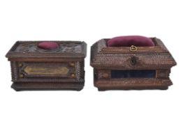 Zwei Prunkschatullen, deutsch um 1900