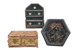 Drei Teile Kleinmöbel, deutsch um 1900