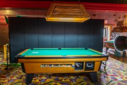 """VALLEY COMMERCIAL POOL TABLE WITH LIGHT 92"""" BY 52"""" LIGHT 46"""" BY 26"""""""
